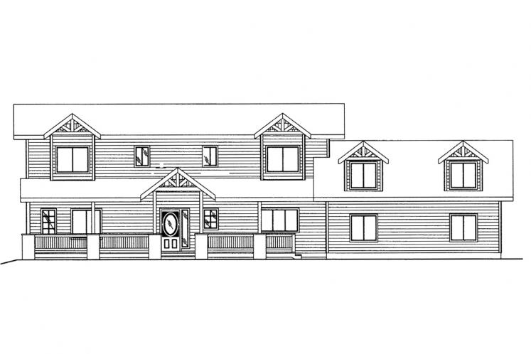 Lodge Style House Plan -  49352 - Front Exterior