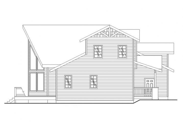 Country House Plan -  49352 - Left Exterior