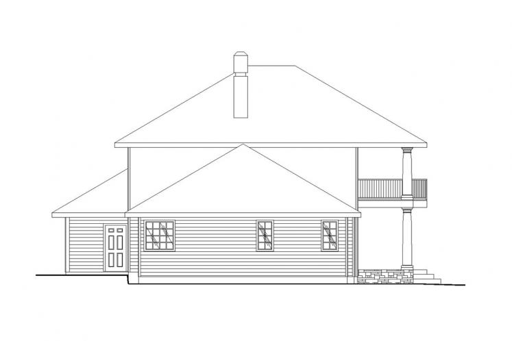 Southern House Plan -  78962 - Left Exterior