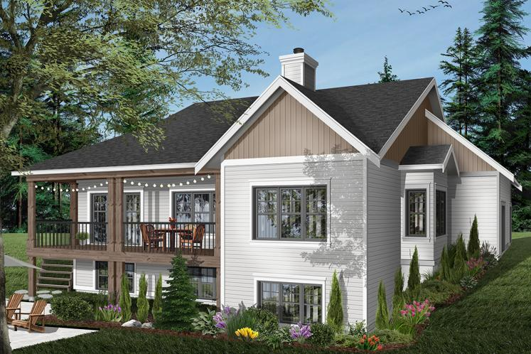 Country House Plan - Aldergrove 64732 - Rear Exterior