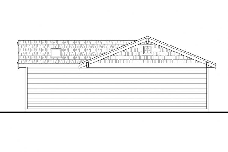 Country Garage Plan -  87989 - Right Exterior