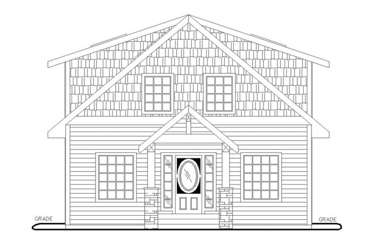 Country House Plan -  36940 - Front Exterior