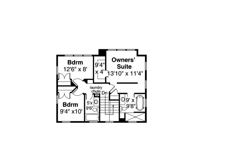 Traditional House Plan - Buchanan 58202 - 2nd Floor Plan