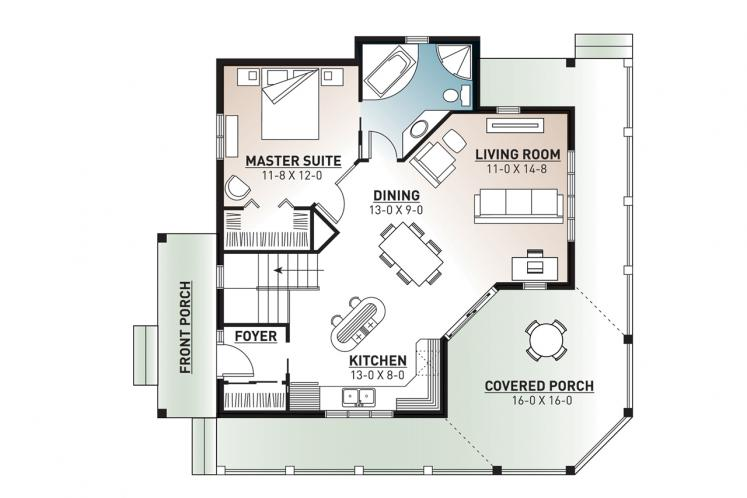 Country House Plan - The Trail Seeker 2 20807 - 1st Floor Plan