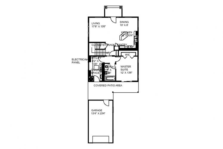 Country House Plan -  36940 - 1st Floor Plan
