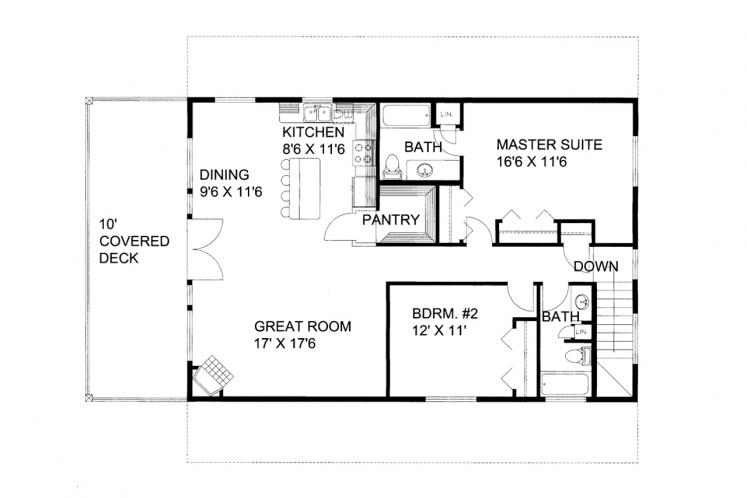 Country Garage Plan -  52380 - 1st Floor Plan