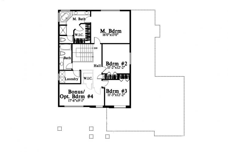 Farmhouse House Plan -  88743 - 2nd Floor Plan