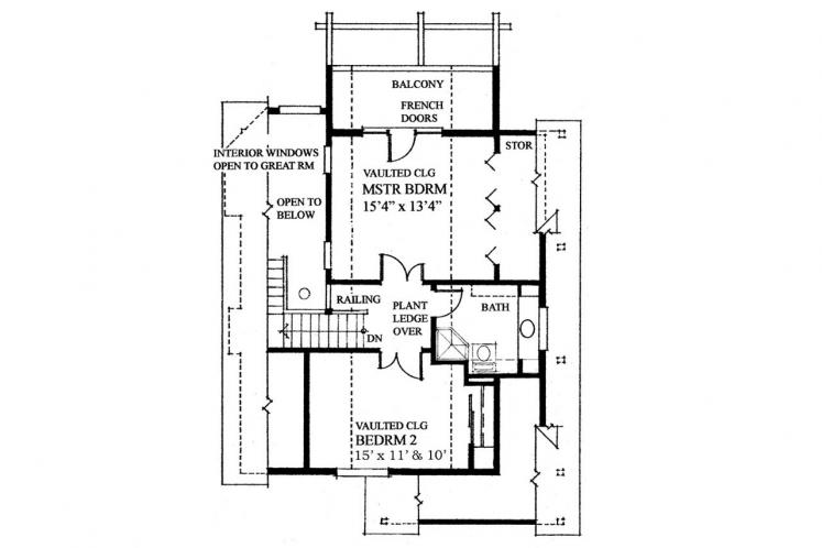 Cottage House Plan -  35335 - 2nd Floor Plan