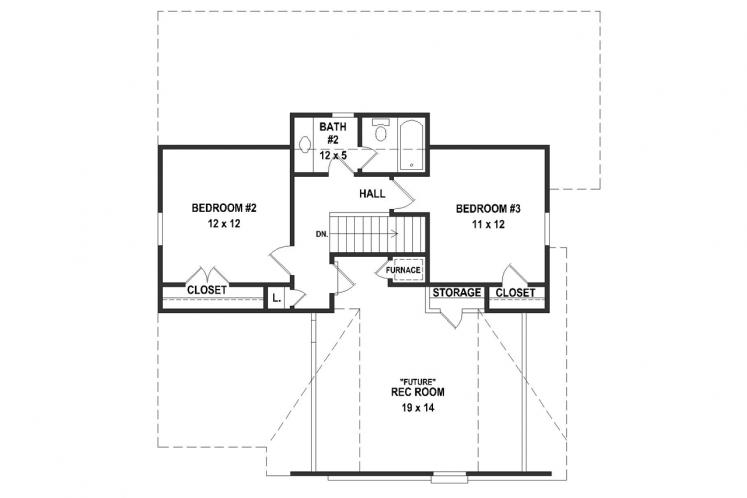 Traditional House Plan -  33857 - 2nd Floor Plan