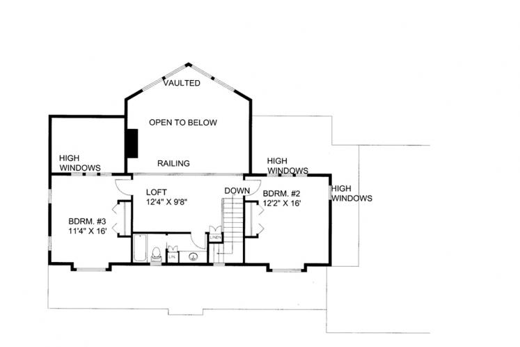 Country House Plan -  49352 - 2nd Floor Plan