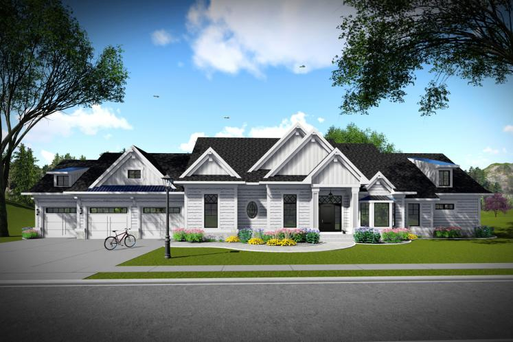 Ranch House Plan -  22557 - Front Exterior