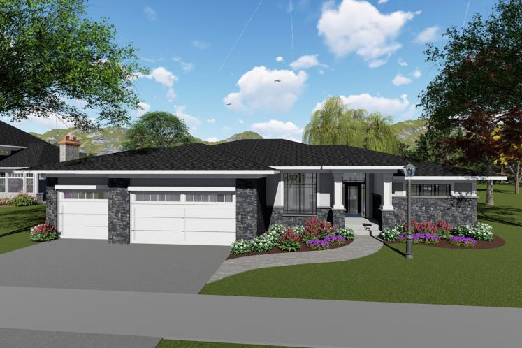 Modern House Plan -  69396 - Front Exterior