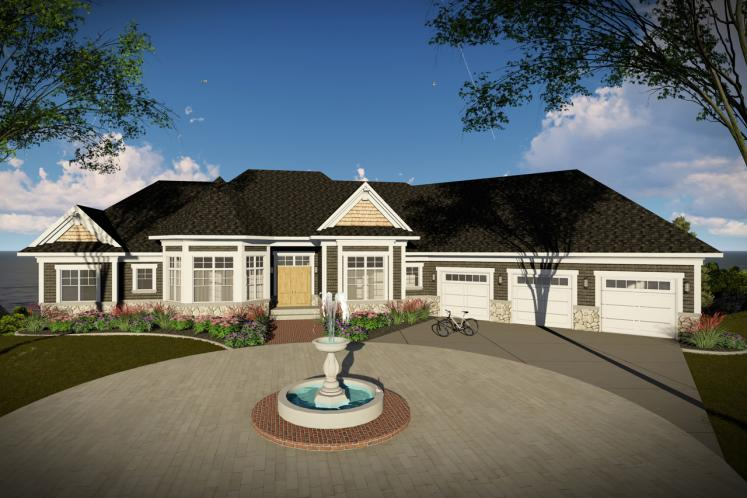 Traditional House Plan -  49511 - Front Exterior