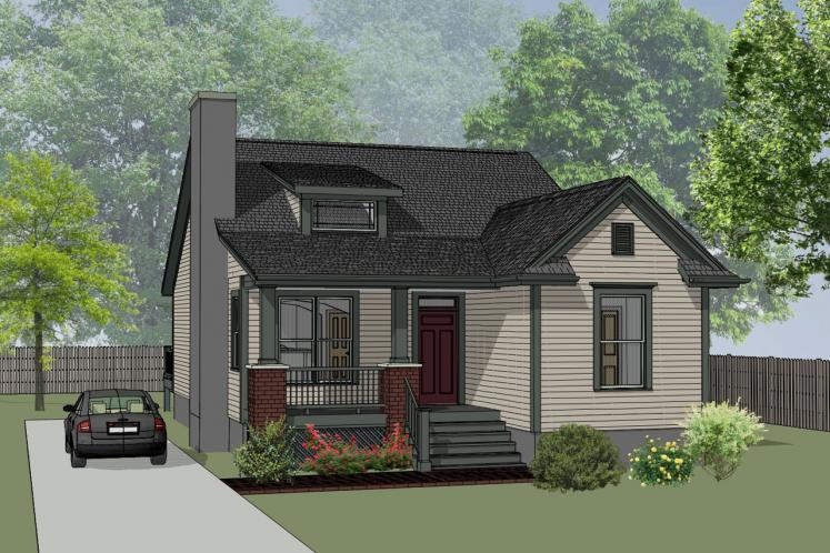 Cottage House Plan -  86393 - Front Exterior