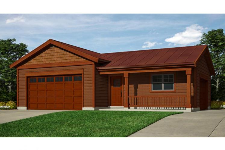 Country Garage Plan -  49141 - Front Exterior