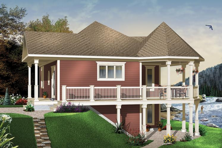 Cottage House Plan - The Trail Seeker 2 20807 - Front Exterior