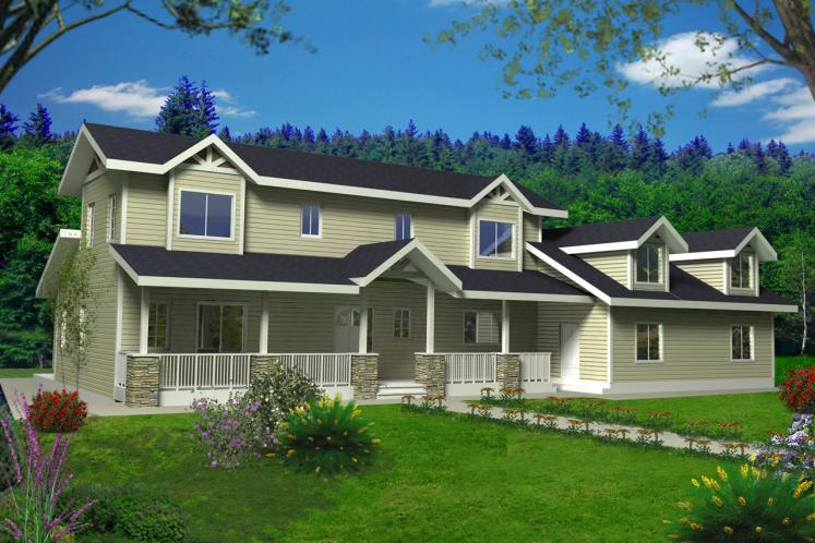 Country House Plan -  49352 - Front Exterior