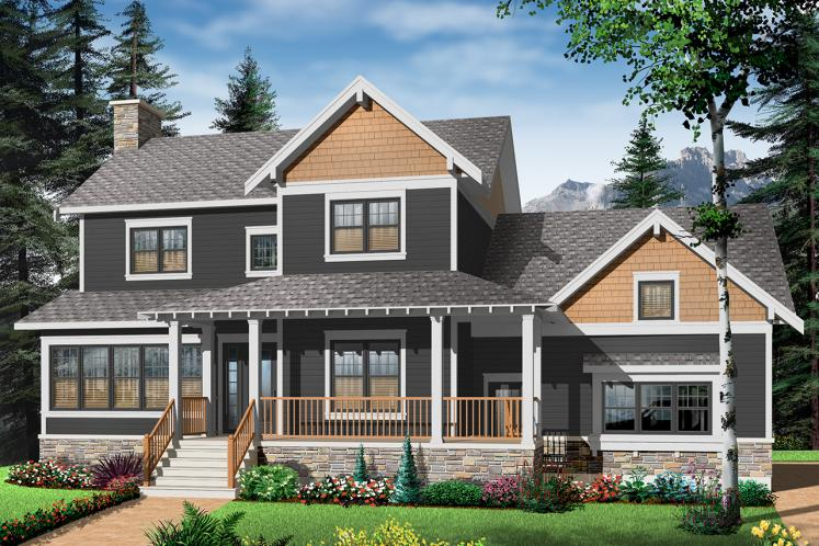 Country House Plan - Ridgewood 3 41658 - Front Exterior