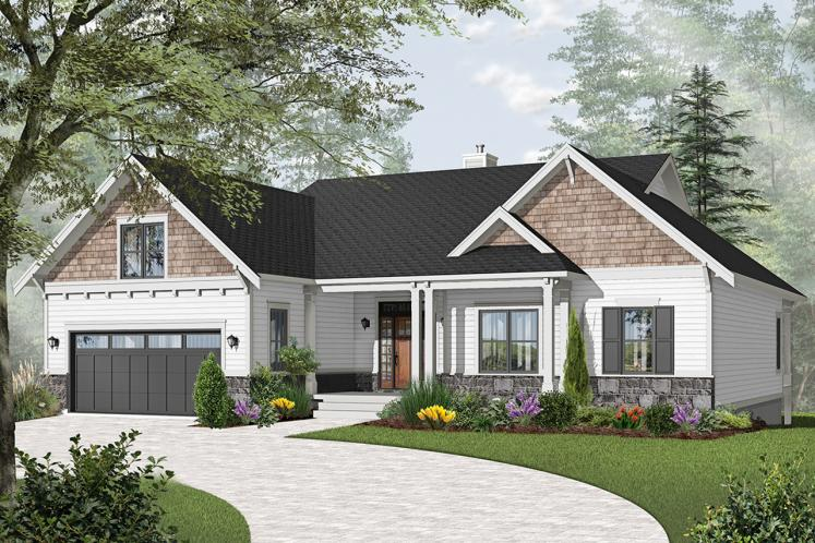 Farmhouse House Plan - Aldergrove 64732 - Front Exterior