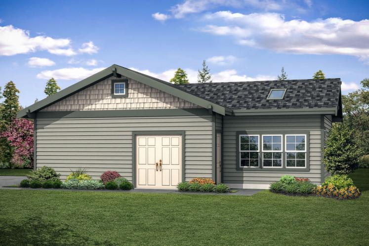 Craftsman Garage Plan -  87989 - Left Exterior