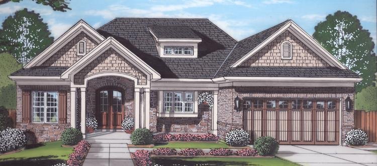 Craftsman House Plan - Belmont 57317 - Front Exterior