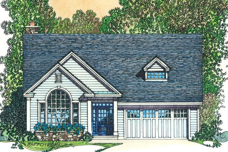 Colonial House Plan -  64526 - Front Exterior