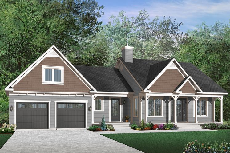 Traditional House Plan - Corydon 80366 - Front Exterior
