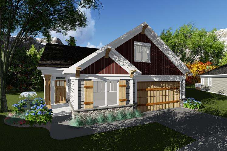 Ranch House Plan -  39965 - Front Exterior