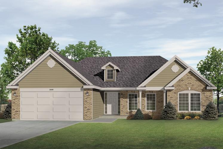 Traditional House Plan -  88929 - Front Exterior