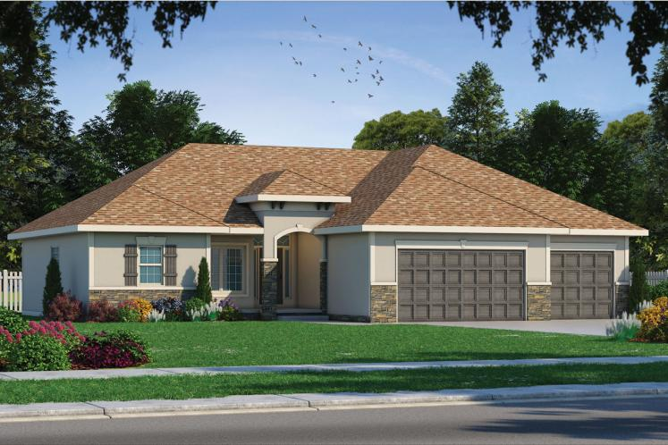 Tuscan House Plan - Hester 62456 - Front Exterior