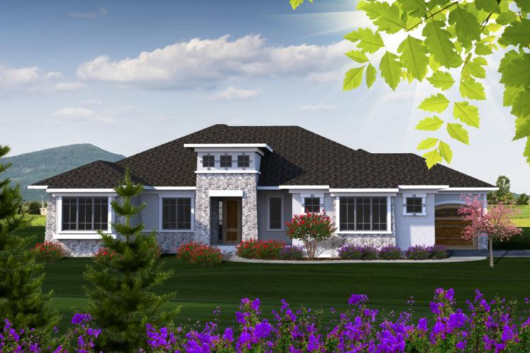 Tuscan House Plan -  87072 - Front Exterior