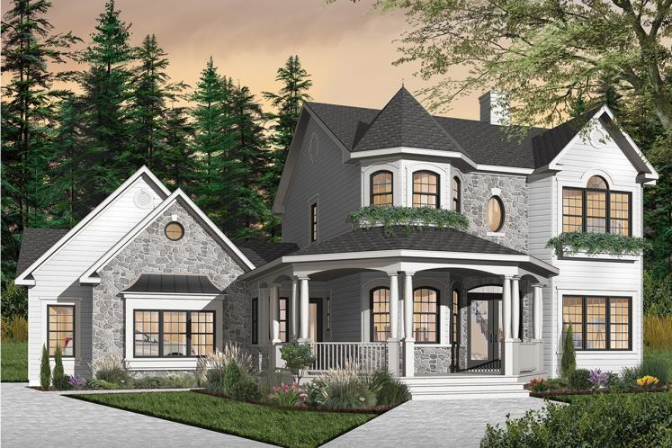 Victorian House Plan - The Collector 2 20023 - Front Exterior
