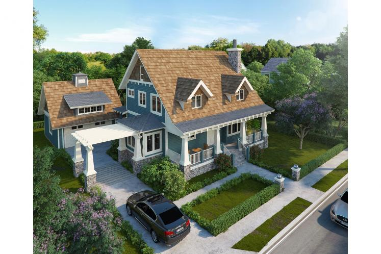 Traditional House Plan - Winter Park 95738 - Front Exterior